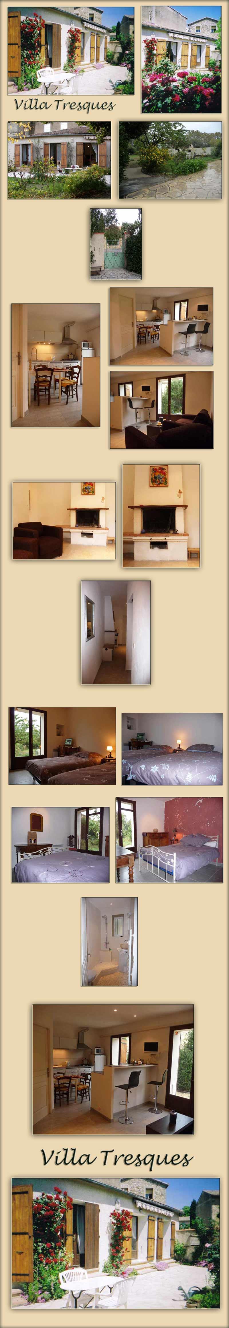 French village villa rental, Tresques, Gard - large photos