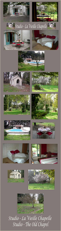 Provence studio avec piscine, grand terrain, vieille chapelle - grandes photos - pour 2-5