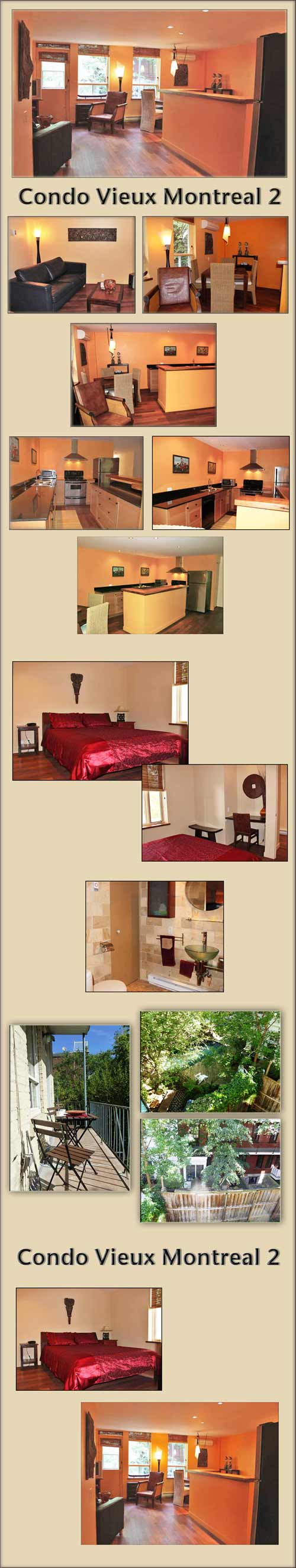furnished Old Montreal condominium - vacation rental and for an extended stay